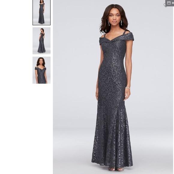 0745dc37e5 Prom Off-Shoulder Glitter Lace Mermaid Dress
